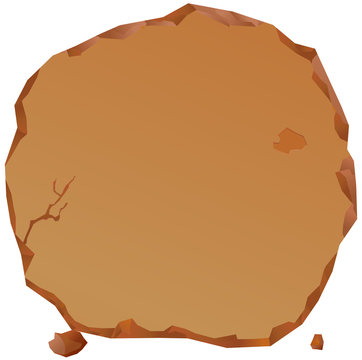 Brown rounded stone tablet vector icon
