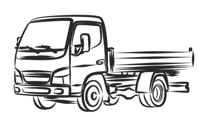 Sketch of big truck.