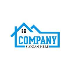 Real estate house logo design