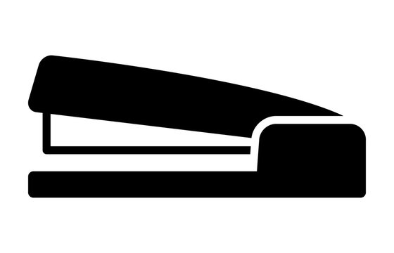 Stapler paper fastener flat vector icon for apps and websites