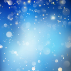Christmas glowing Blue Template. EPS 10 vector