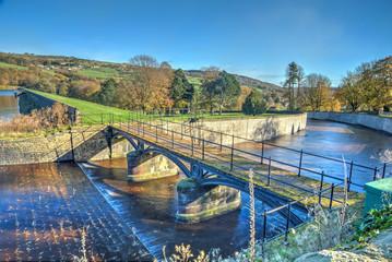 Agden reservoir and bridge, Bradfield, Yorkshire