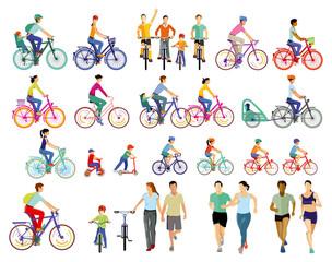 Gruppe von Fahrradfahrer