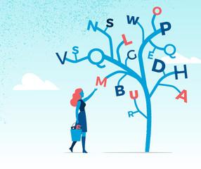 Raccolta di lettere dell'alfabeto
