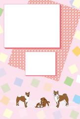 柴犬のイラスト写真フレームのポストカード