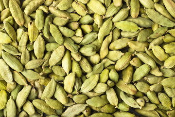 cardamom seeds spice as a background, natural seasoning texture