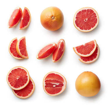 Fresh grapefruit isolated on white background