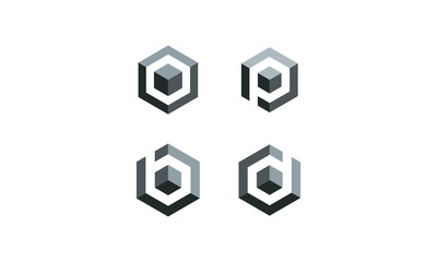 cube icon logo illustration