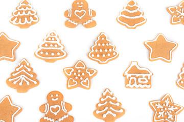 Christmas cookies with decoration / Christmas cookies with decoration isolated on white