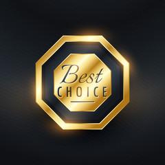 premium best choice golden label design
