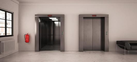 Fahrstuhl Flur mit Sitzgelegenheit