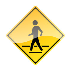 Pedestrian Traffic Sign isolated on white background. Vector illustration.