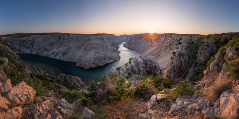 Zrmanja Canyon at sunset, Croatia
