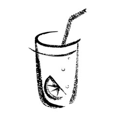 Cocktail sketch hand drawing. Vector illustration
