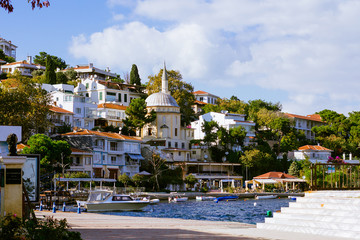 Villas on the island in Marmara sea