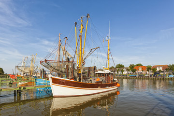 Fishing port of Fedderwardersiel, Germany