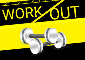 Dumbbell workout fitness healthy and sport concept Background Vector