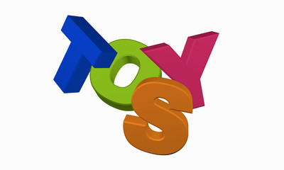 Toys in bunten Buchstaben
