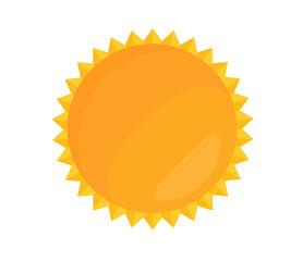 Cartoon Bright Sun Vector Illustration in Flat