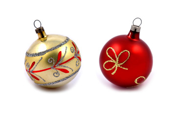 Christmas balls stock images. Vintage christmas balls. Christmas decoration on a white background
