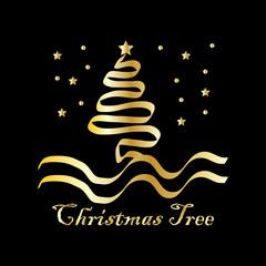 christmas tree vector illustration symbol