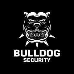 buldog security vector illustration