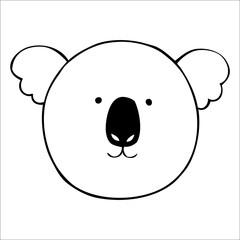 Vector koala. Hand drawn illustration
