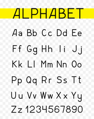 alphabet characters font