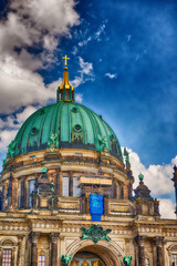 Fototapete - Berlin Cathedral on a beautiful sunny day
