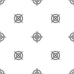 Target crosshair pattern seamless black