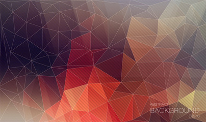 Triangle background with oblique lines