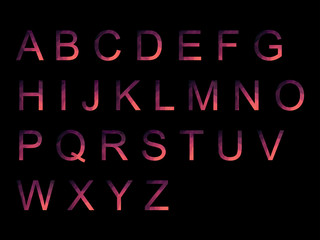 Vector Alphabet Set geometric font