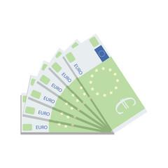 Euro banknote fan