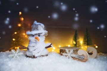 Weihnachten - Schneemann winter Hintergrund