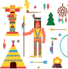 Native americans and wild West theme