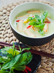 Green Vegan Vegetarian Thai Green Curry