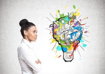 African American businesswoman, business idea
