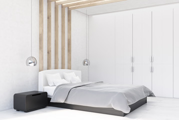 White bedroom interior side