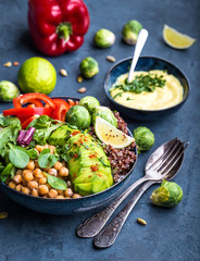 Bowl with healthy salad