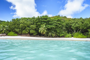 Looking to the coast of anse lazio from the water, praslin, seychelles 11