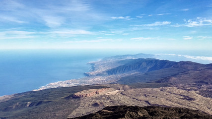 View from  top of volcano Pico del Teide - Tenerife