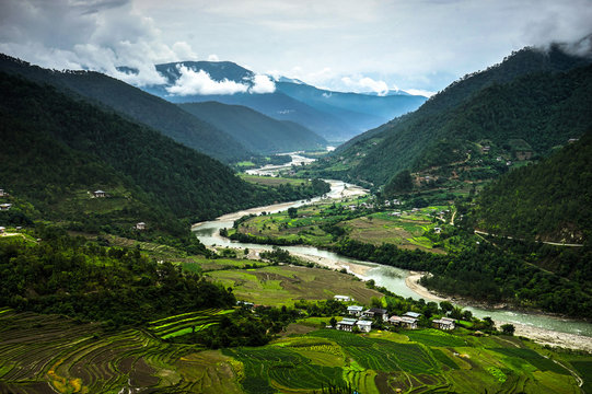 Bhutan Nature View overlooking River
