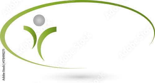 Person In Bewegung Sport Und Fitness Logo Stockfotos Und