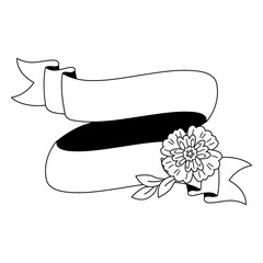 Vector Floral Ribbon
