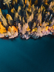 Aerial Autumn Lake
