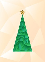 Modern abstract christmas tree