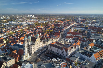 Blick auf die Augsburger Altstadt