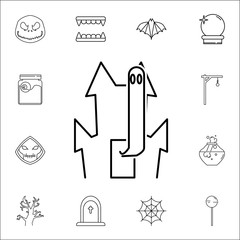 GHOST CASTLE ICON. Set of Halloween icons