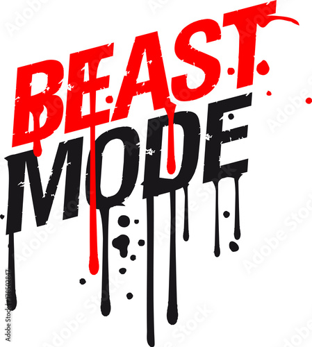 quottropfen graffiti blut spray beast mode cool design gym