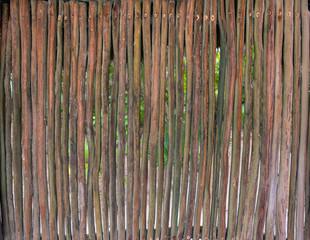 Jungle Hut Rustic Wooden Wall